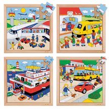 Transport puzzles - complete set of 4