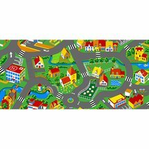 Traffic play mat, city
